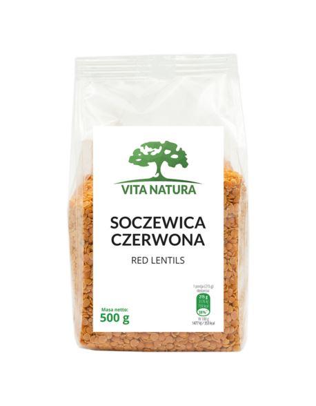 SOCZEWICA CZERWONA 500G VITA NATURA
