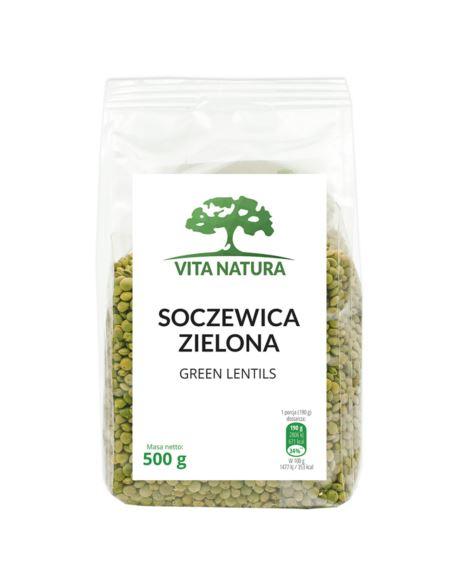SOCZEWICA ZIELONA 500G VITA NATURA