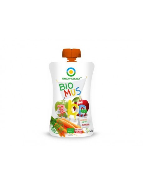 MUS JABŁKO MARCHEW BIO 90G BIO FOOD