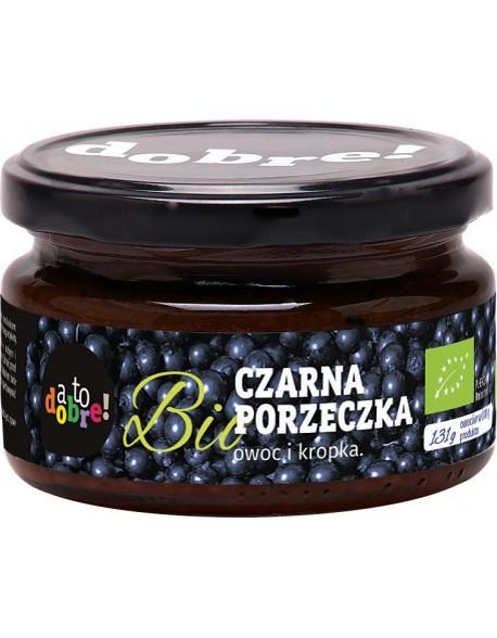 """CZARNA PORZECZKA BIO BEZ CUKRU 200G OWOC I KROPKA ,,A TO DOBRE"""""""