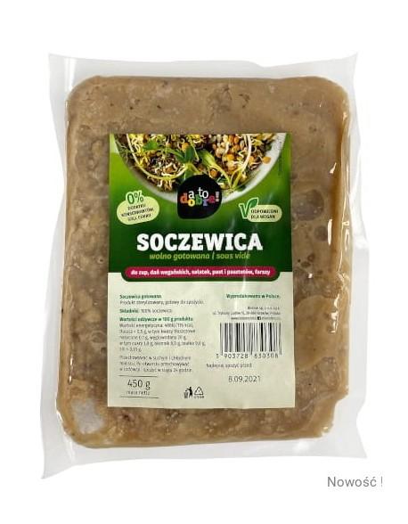 SOCZEWICA GOTOWANA 450G '' A TO DOBRE ,,